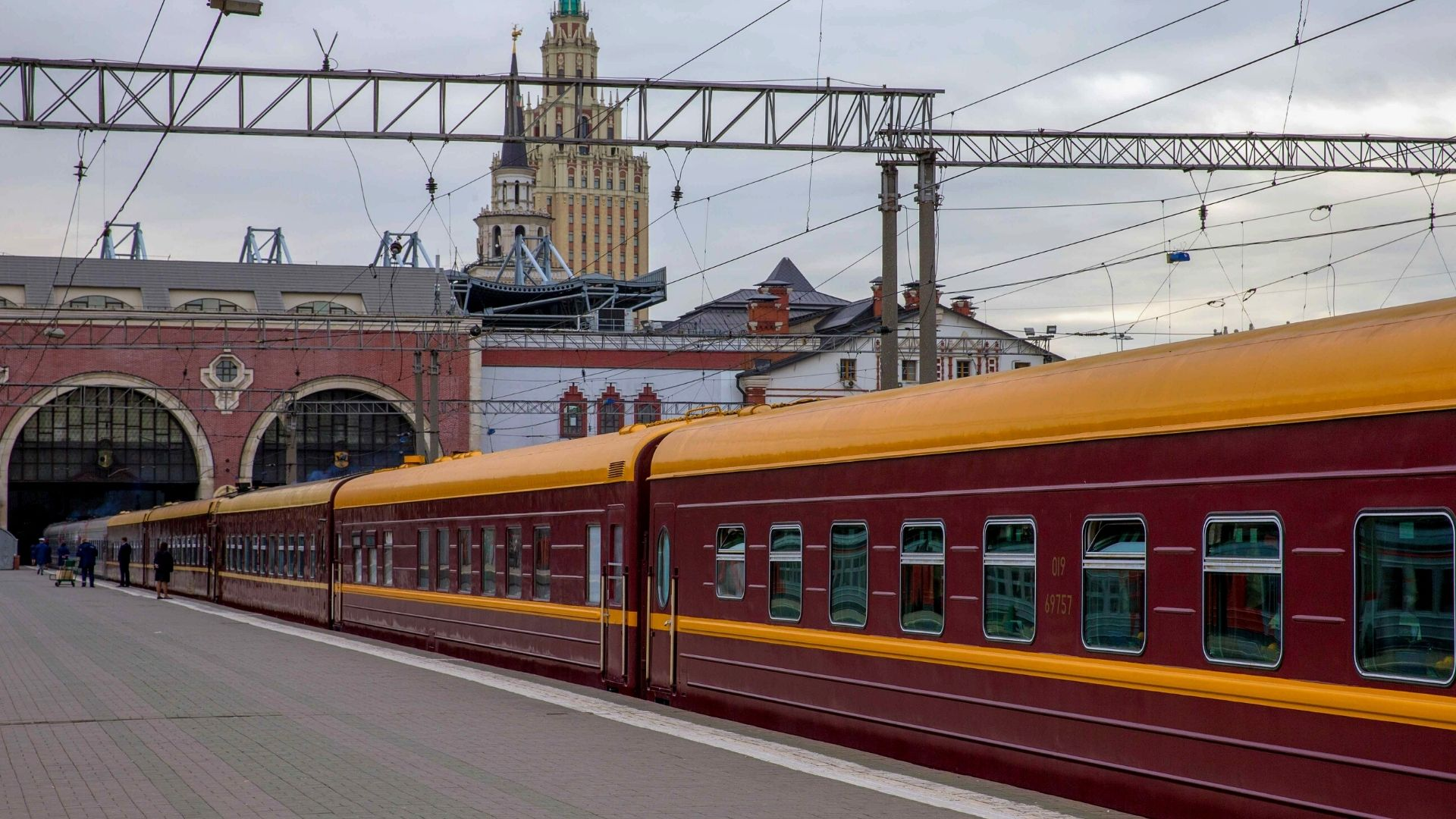 The Tsar's Gold train in station