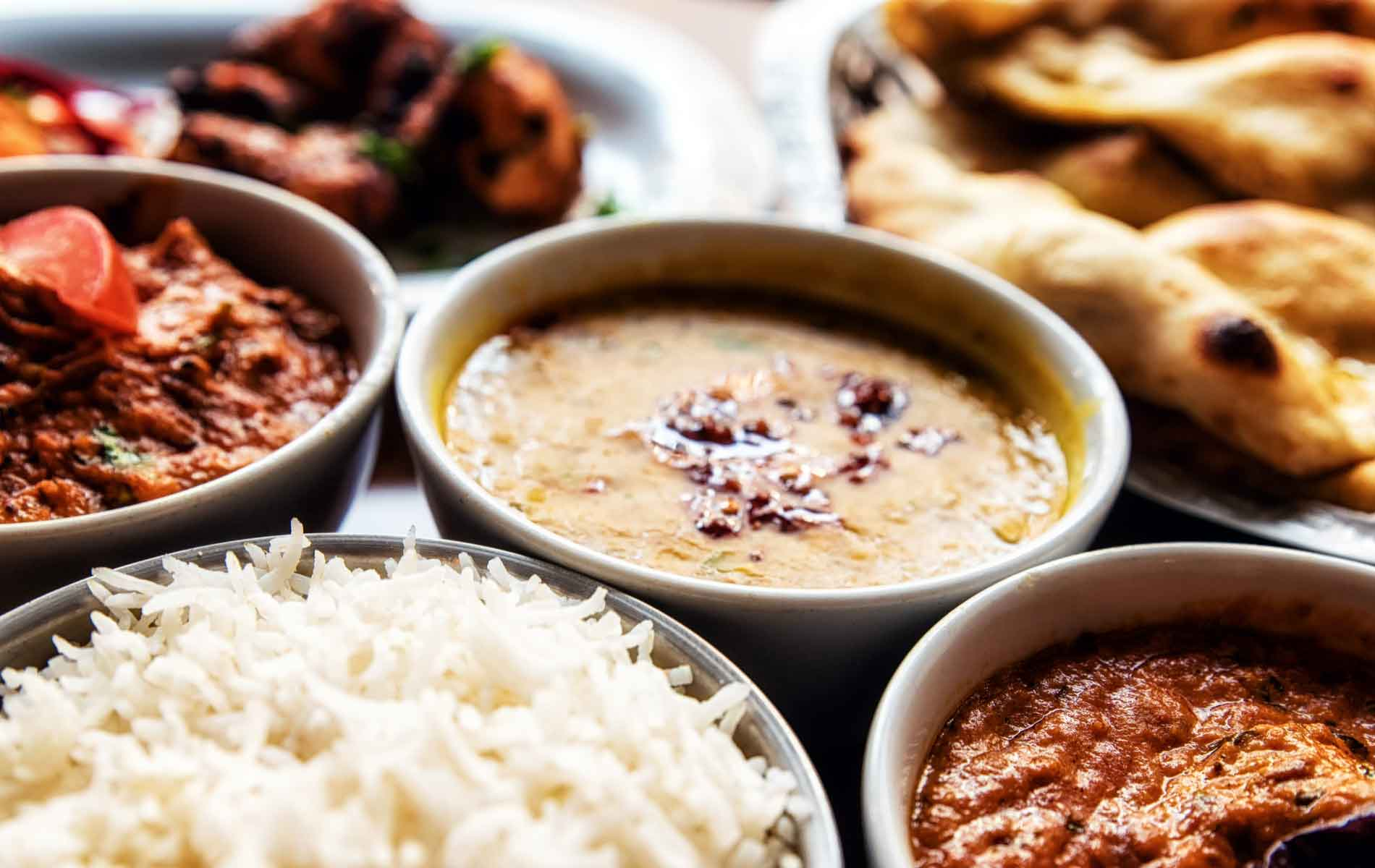 A selection of delicious Indian cuisine