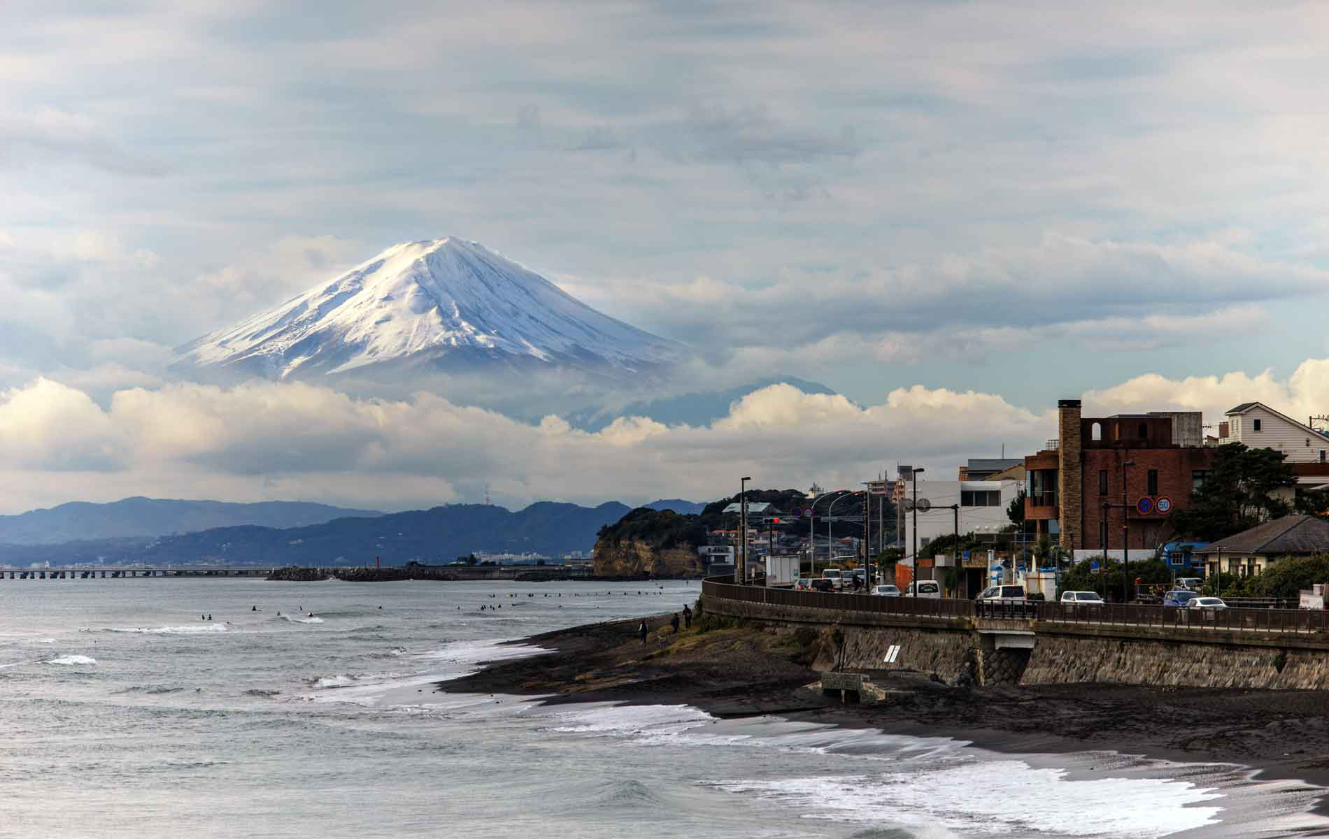 view of Mt Fuji on a Japan tour