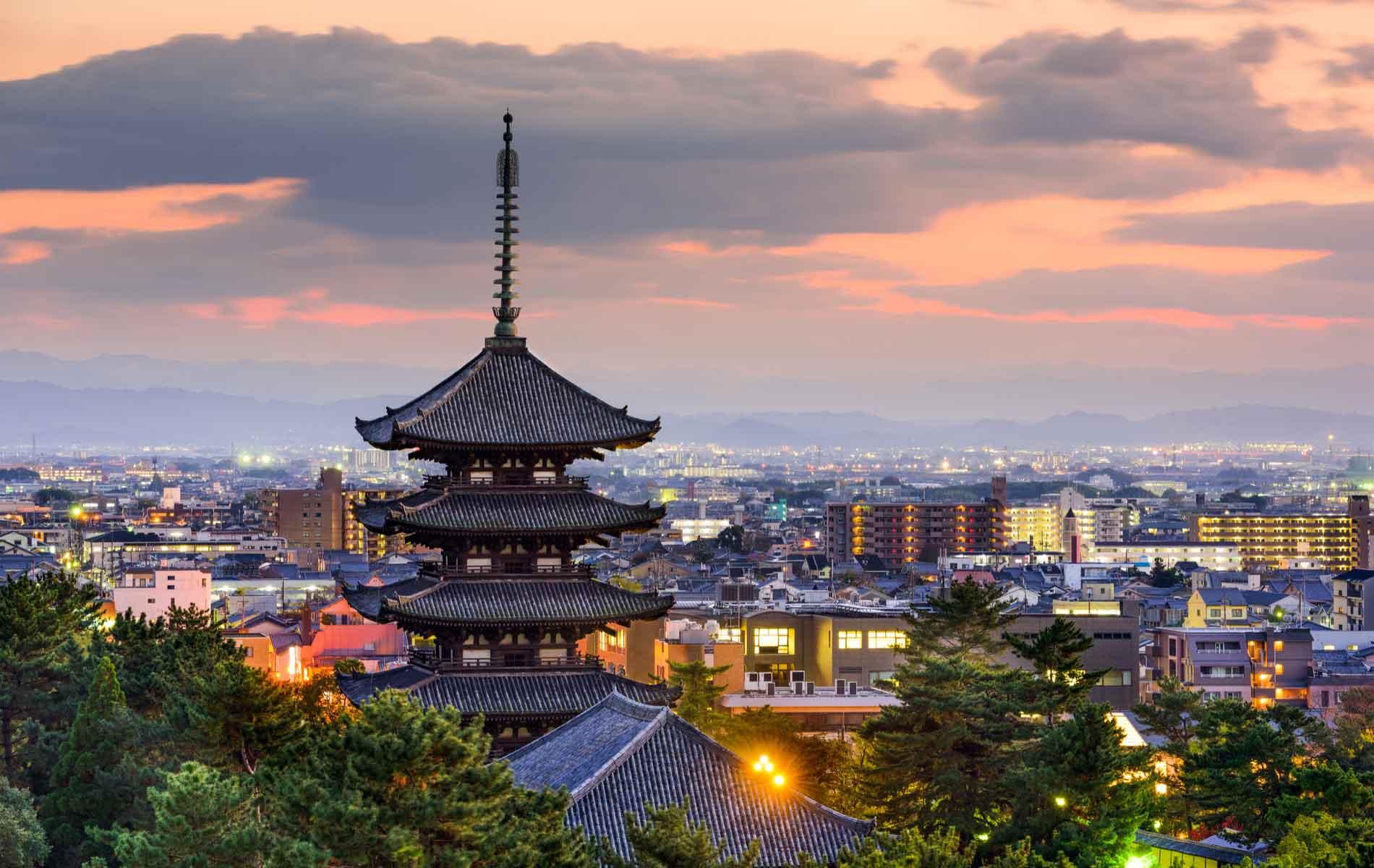 A pagoda in Nara, Japan
