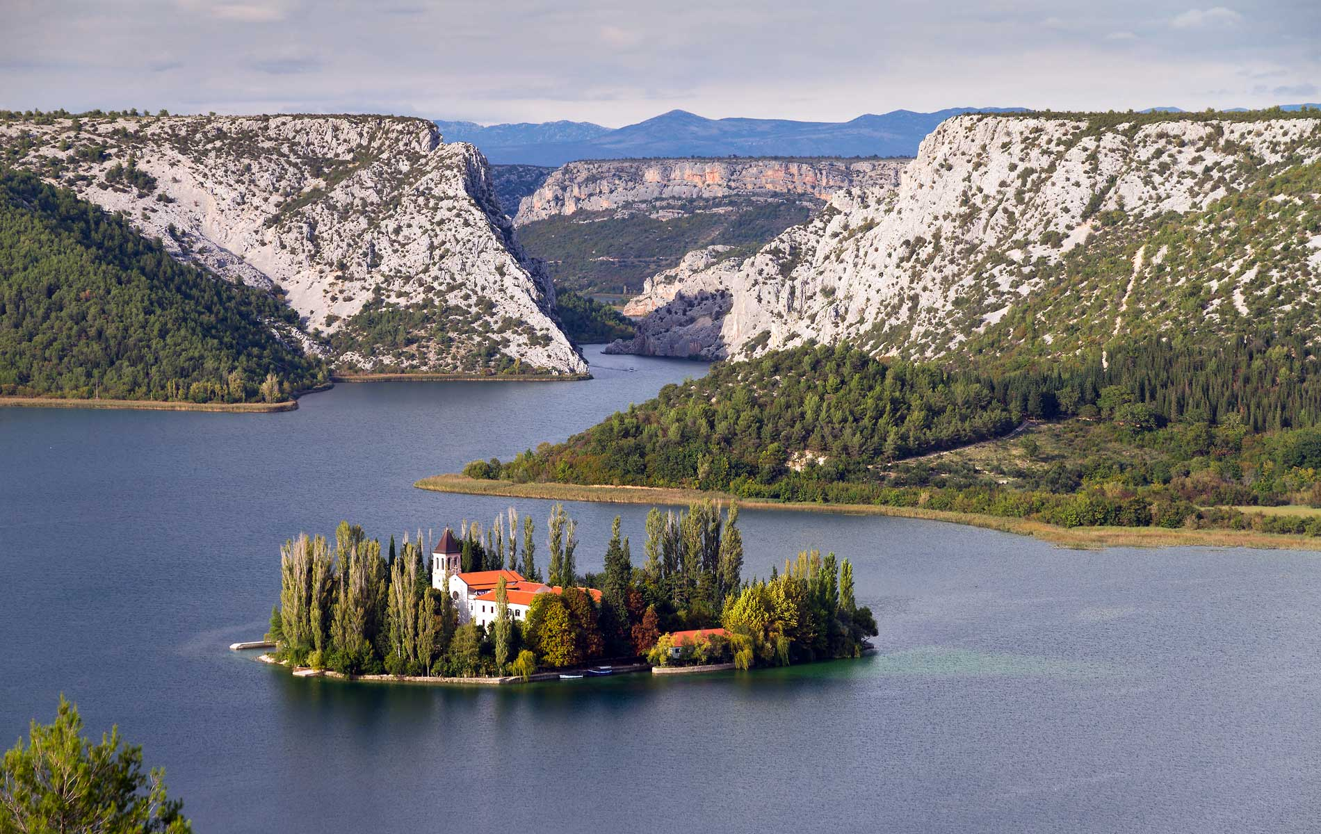Visovac Monastery in Krka National Park, Croatia