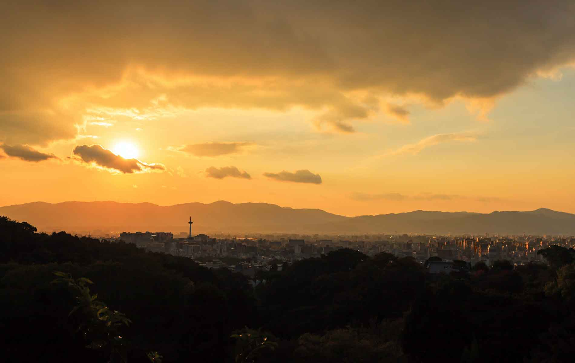 Sunset over Kyoto, Japan