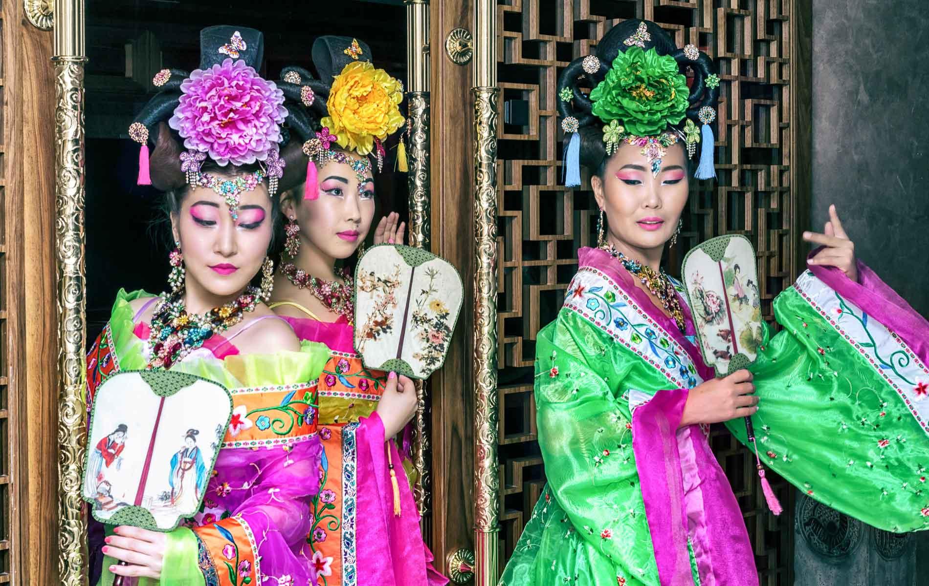Three Japanese Geishas