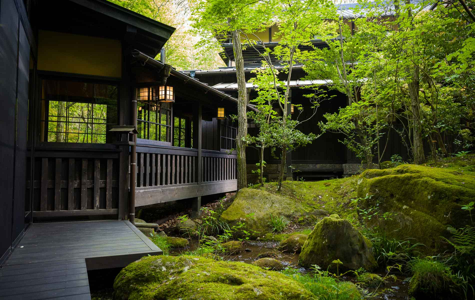 A Ryokan or Japanese traditional hotel