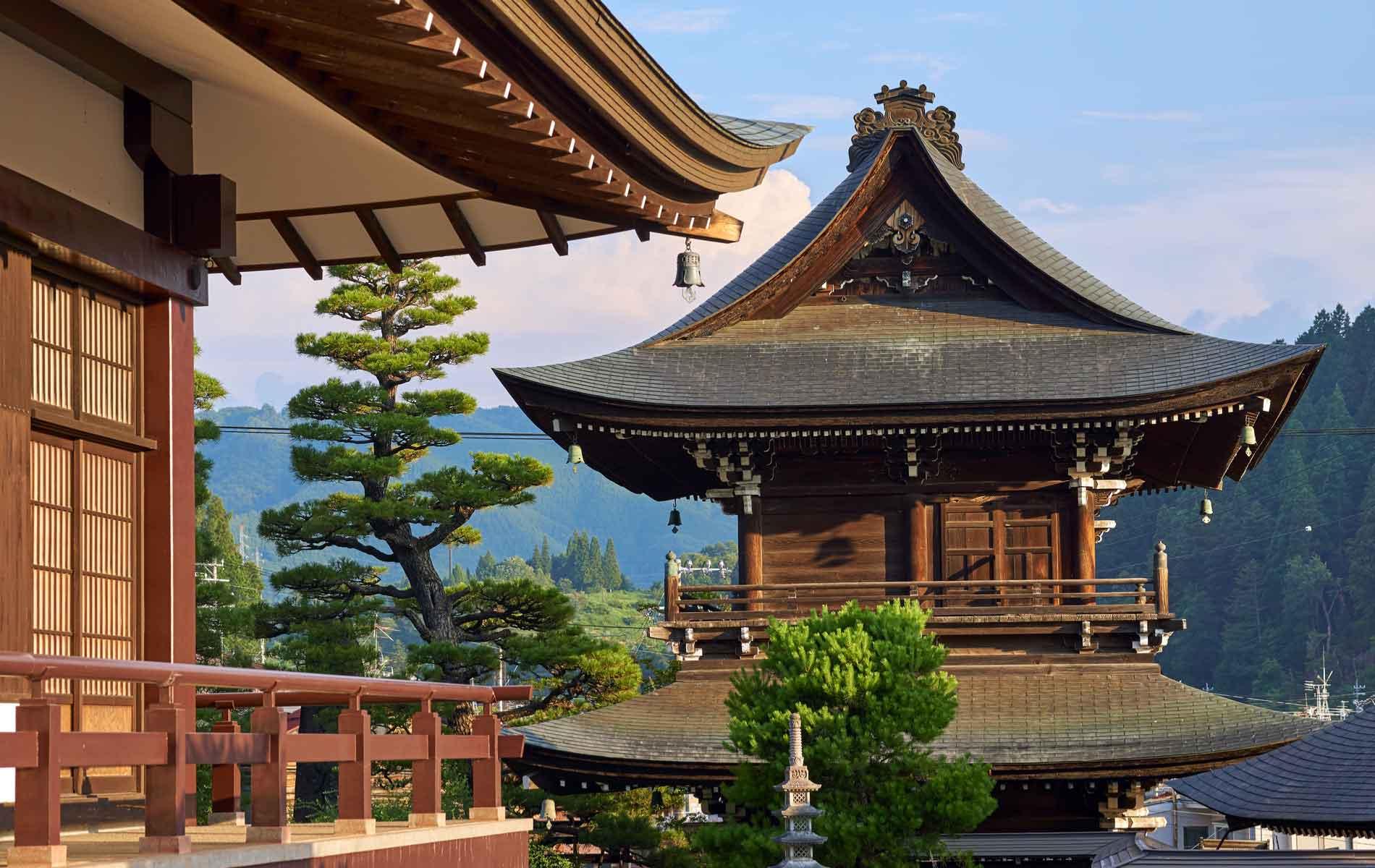 A temple in Takayama, Japan
