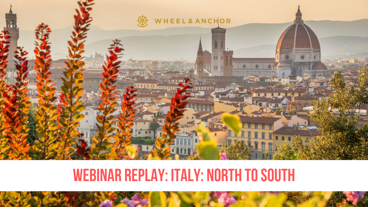 Webinar Replay: Italy: North to South