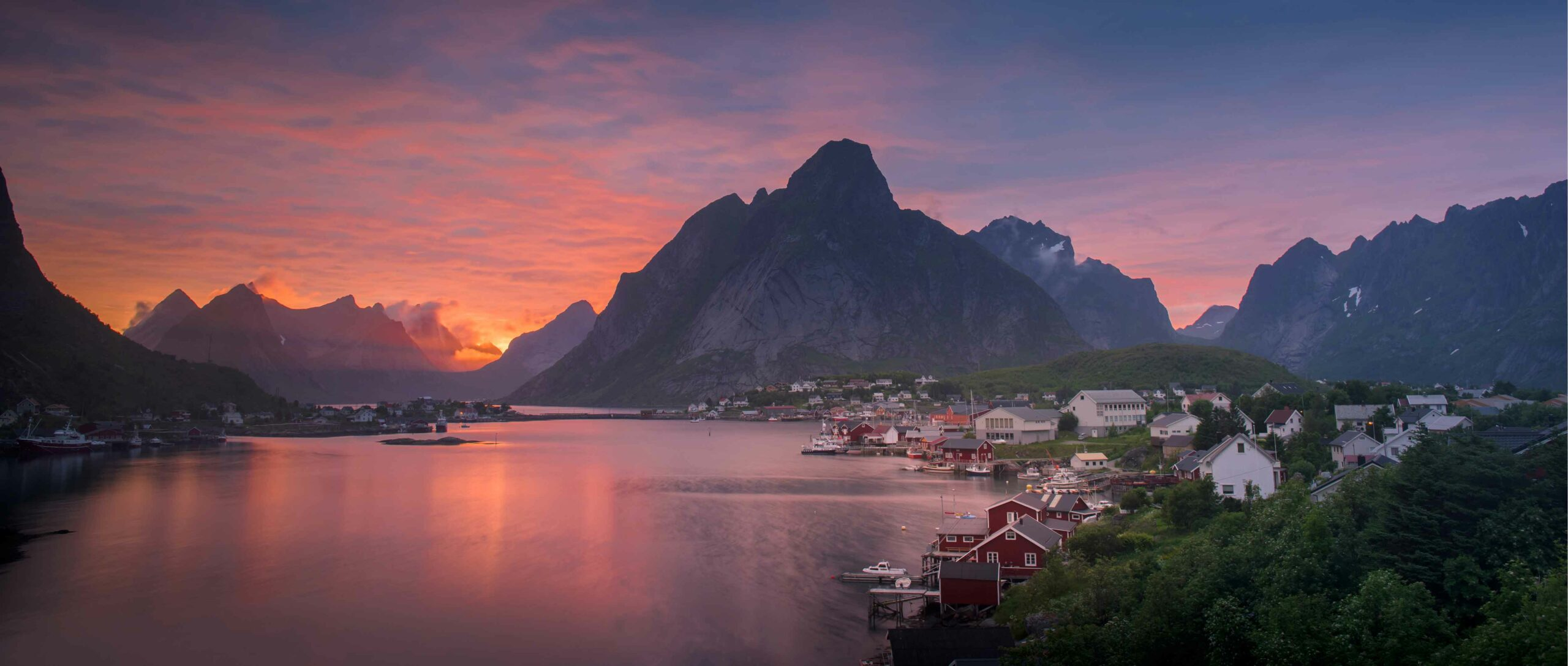 Norway Cruise Stop: Sunset over the Lofoten Islands