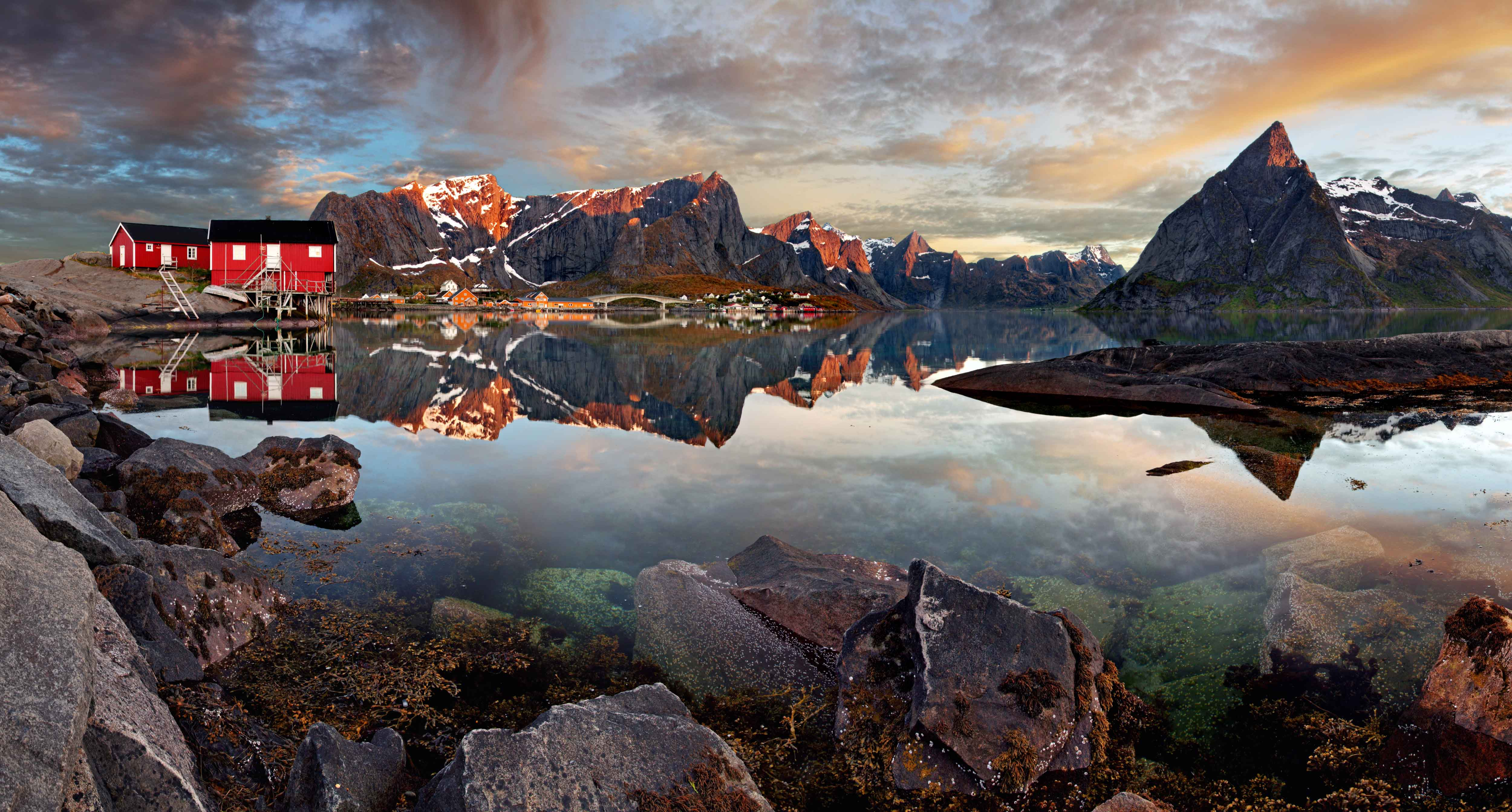 Lofoten archipelago in the county of Nordland, Norway.