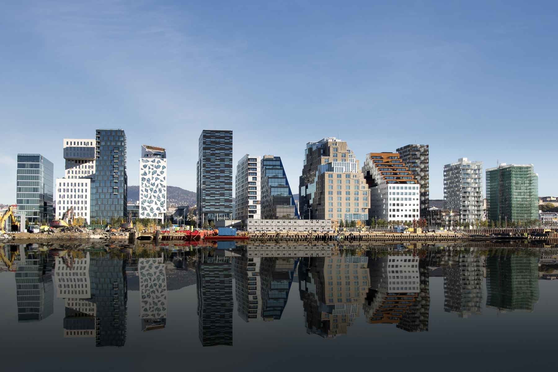 The waterfront in Oslo, Norway
