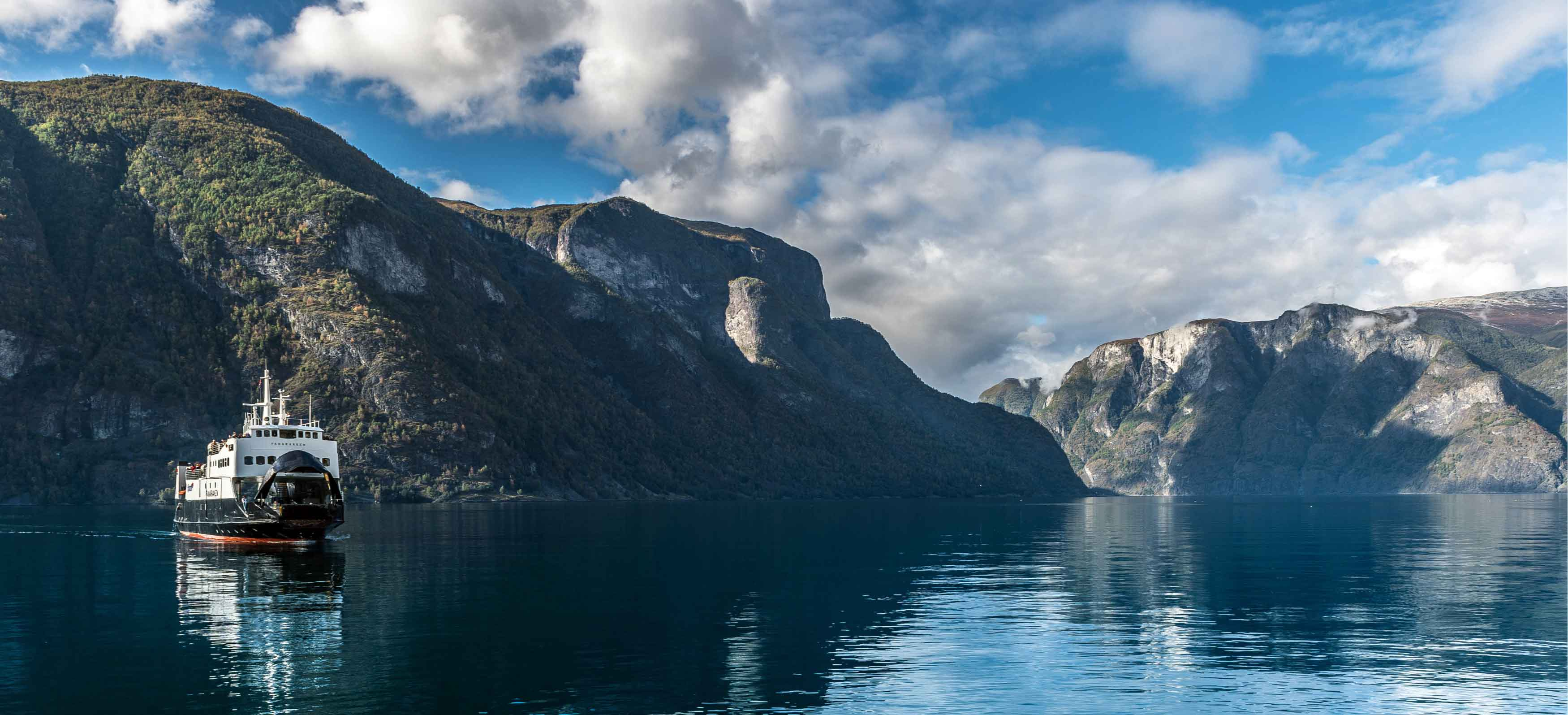 Sognefjord, the largest and deepest fjord in Norway.