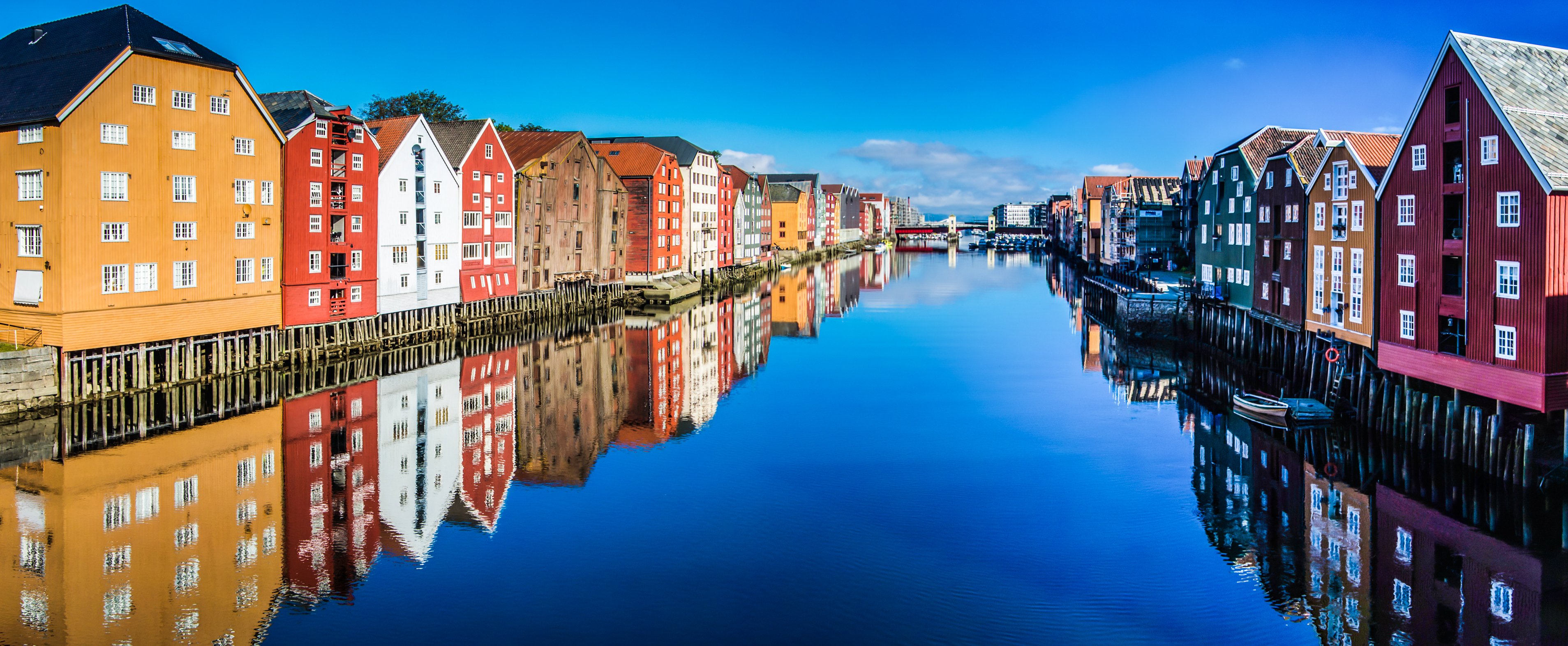 The city of Trondheim in Norway