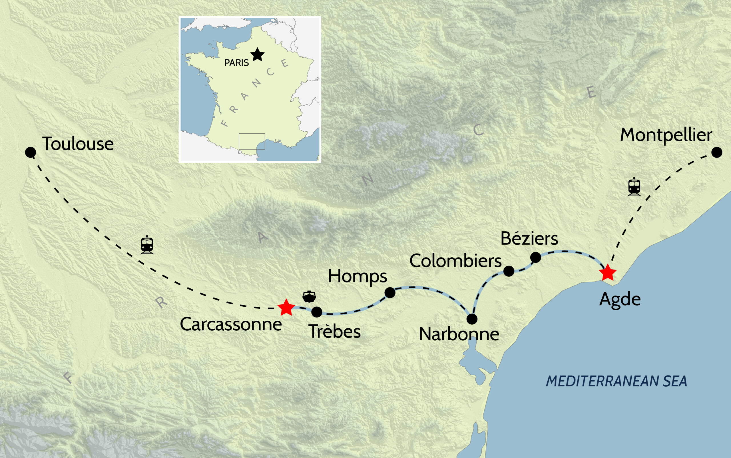 Canal du Midi_France_map-01
