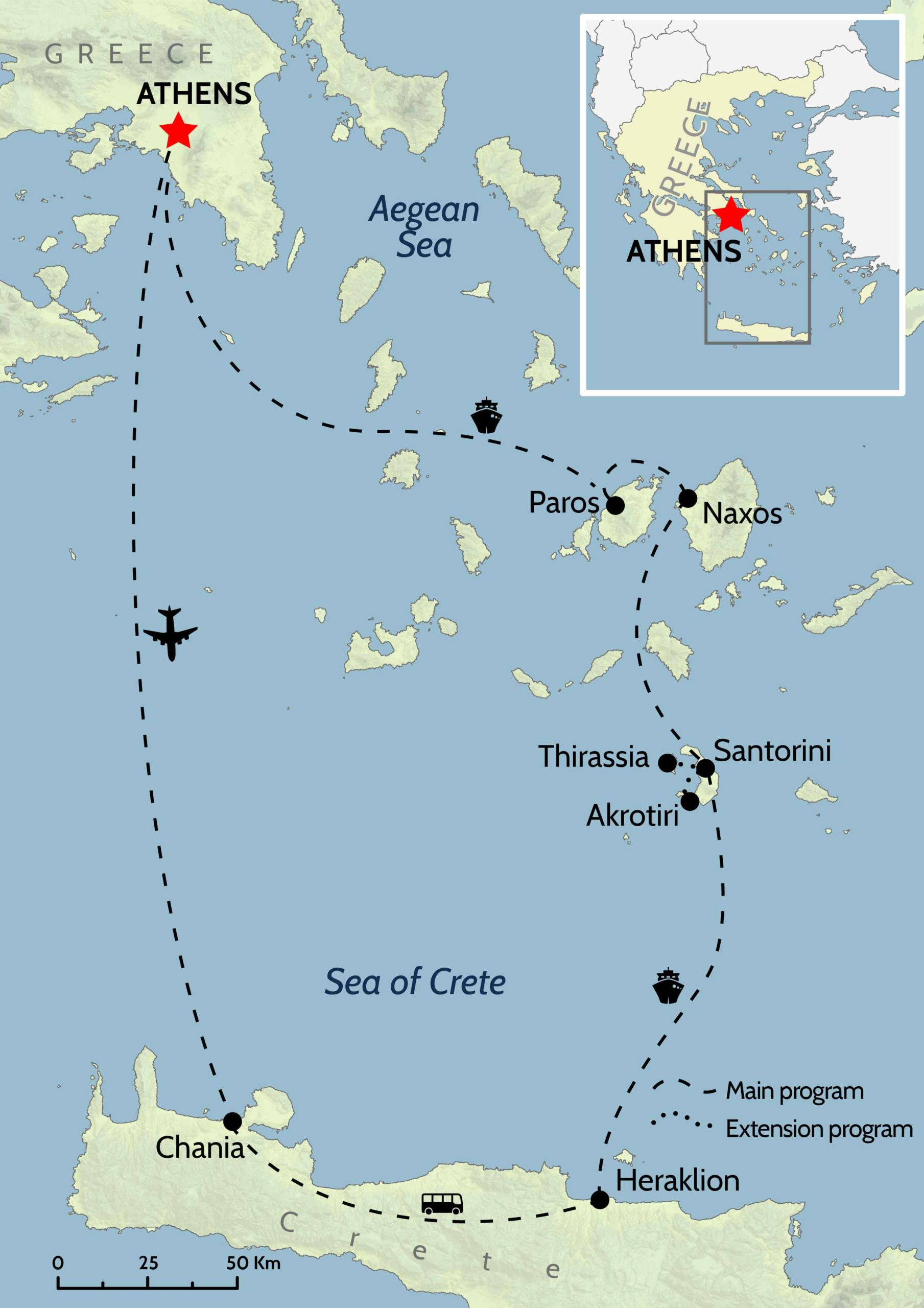 Map of Greek Islands