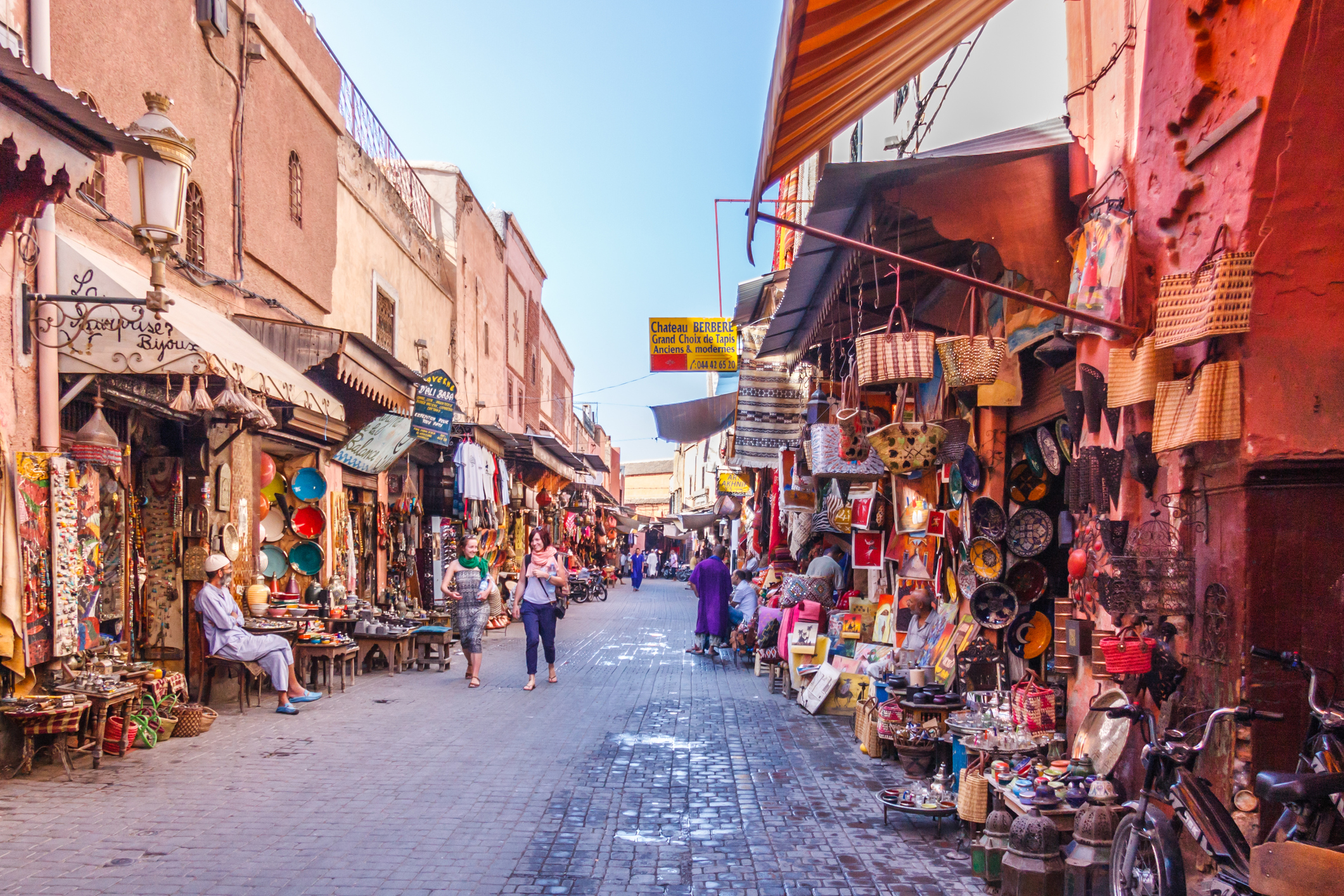 A walk through the different souks and medinas of Morocco