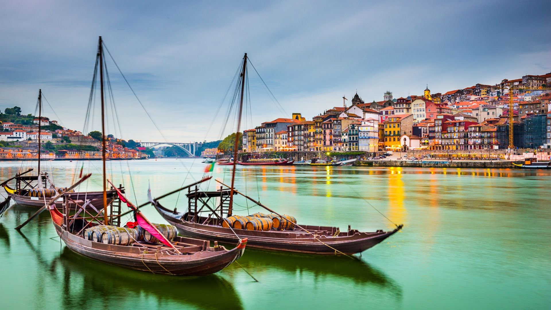 Boats on the Douro in Porto