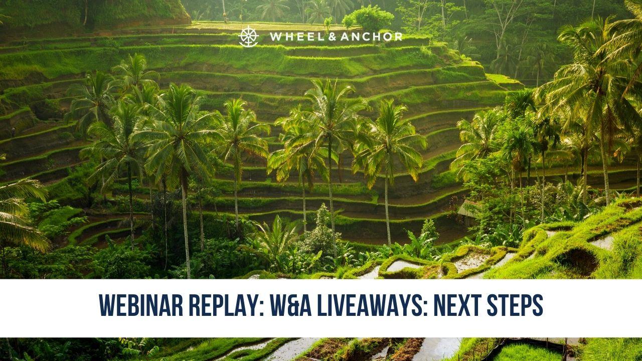 Webinar Replay: W&A LiveAways: Next Steps