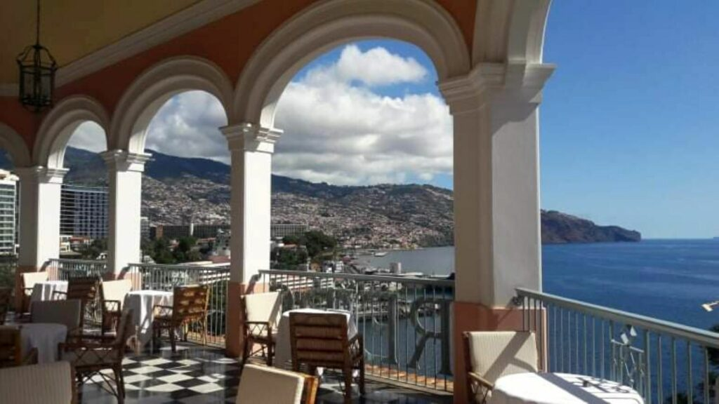 The view from Reid's Palace in Madeira