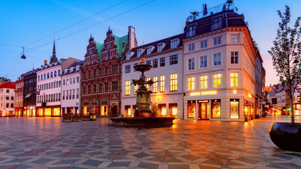 The Strøget in Copenhagen, the world's longest pedestrian street