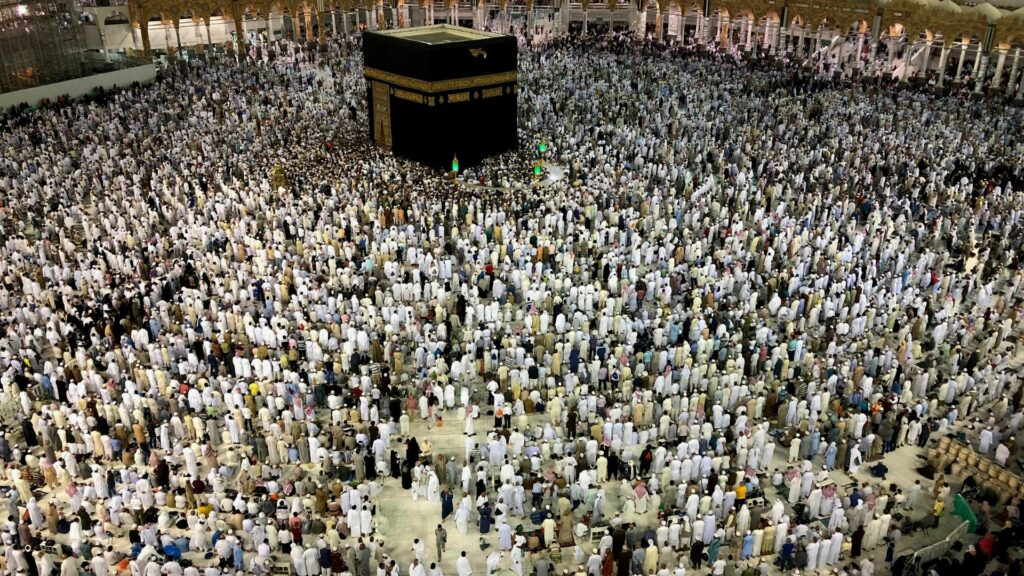 Pilgrims in Mecca, Saudi Arabia