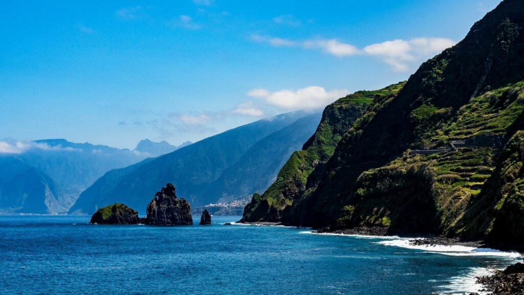 A beautiful view of Madeira's stunning coastal cliffs