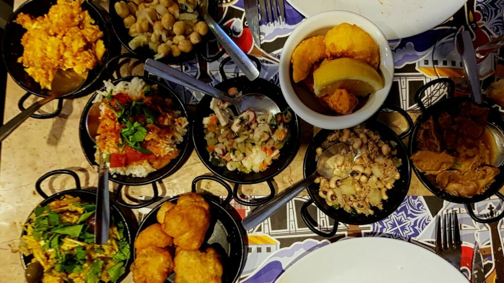 Various Portuguese dishes