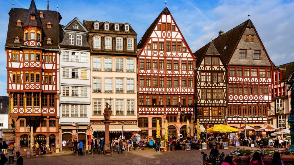The Dom-Römer Quarter of Frankfurt, Germany