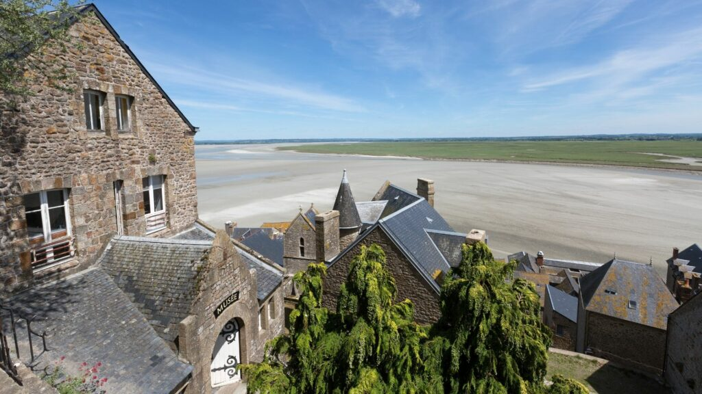 View of the tidal flats from Mont Saint-Michel